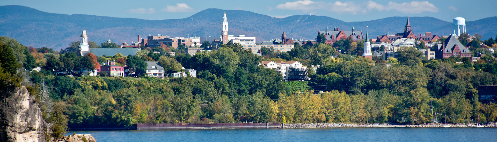 Burlington, Vermont on the shores of Lake Chamaplin